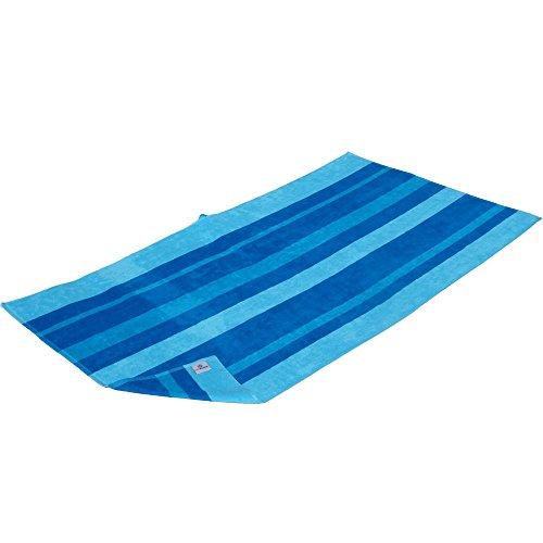 XXL Strandtuch, Duschtuch, Badetuch Blue Stripe im Streifen Design, 180 x 100 cm groß