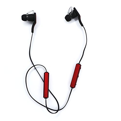AURIN® Newest Wireless Bluetooth Headset Stereo Sports/Running & Gym/Exercise Bluetooth Earbuds Ultra-light Headphones Headsets with build-in Microphone for Iphone6 5S 5C 4S 4, Ipad 2 3 4 New iPad,iPad Air Ipod, Android, Samsung Galaxy S5,Galaxy 4,Galaxy 3,Sony and other smartphone-Red  available at amazon for Rs.2444