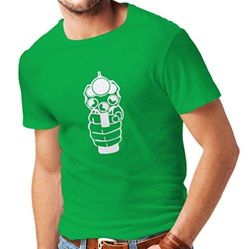 Grün Large Tote (lepni.me Männer T-Shirt Ich Schieße um zu Töten! Revolverheld, Revolver, Polizeigeschenk (Large Grün Weiß))