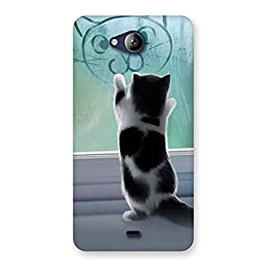 Impressive Cute Kitty Face Print Back Case Cover for Canvas Play Q355