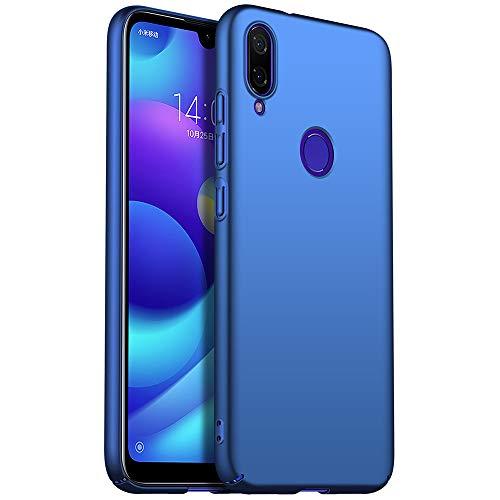 Funda Xiaomi Redmi Note 7, Apanphy [Ultra Slim] [PC Duro] [Piel Sedosa] [Protección Completa] Carcasa para Xiaomi Redmi Note 7 Azul