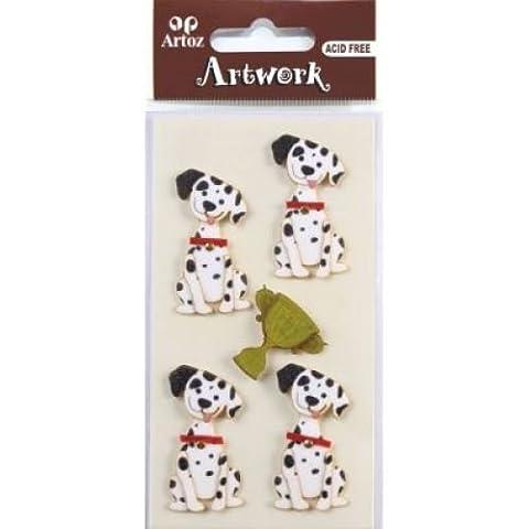 Dalmation Dog Craft Embellishment Scrapbooking Card Topper