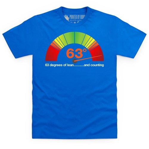 63 Degrees of Lean T-Shirt, Herren Royalblau