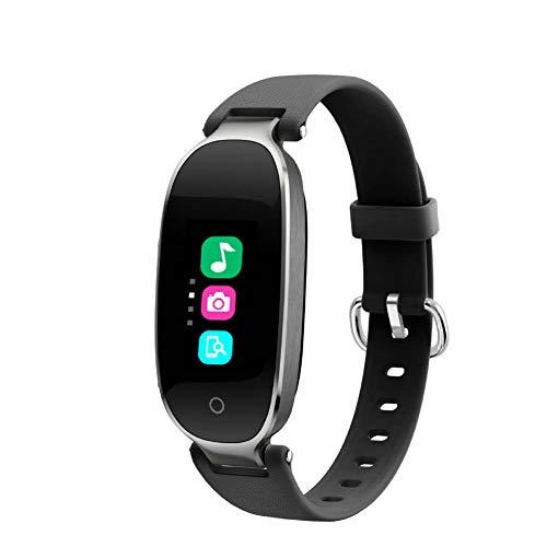 LOO LA Smart Watch Weibliche Smart Armbanduhr Farbdisplay Mode Bluetooth wasserdichte Herzfrequenzmesser Schritt Schlaf Erkennung wasserdichte Herzfrequenz Test Für Android Und IOS,Grau -