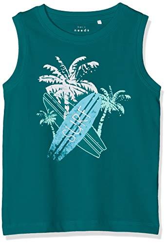 NAME IT Baby-Jungen NMMVUX SL TOP H T-Shirt, Grün (Teal Green), (Herstellergröße: 92)