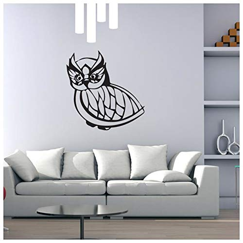 azutura Kleine Eule Funky Design Vögel und Federn Wandtattos Heim Dekor Art Decals verfügbar in 5 Größen und 25 Farben Mittel Gold Metallic -