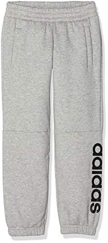 adidas Jungen Linear Hose, Medium Grey Heather/Black, 164