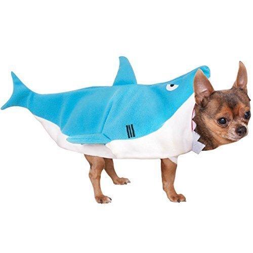 Pet Dog Cat Shark Bite Animal Halloween Fancy Kleid Kostüm Outfit Kleidung S-XL - , (Hai Hund Kostüm Kleiner)