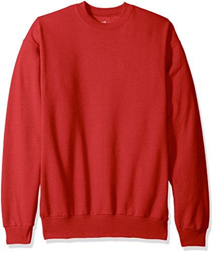 Hanes Men's ComfortBlend Crewneck Sweatshirt, Deep Red, XXX-Large