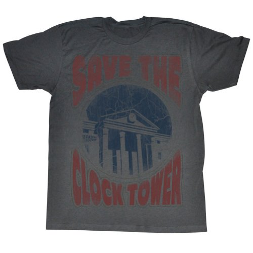 Back To The Future - Männer Saves The Day T-Shirt in der Holzkohle Charcoal