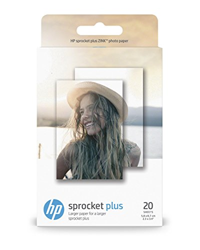 HP Zink Carta Fotografica Autoadesiva per Sprocket Plus, 5.8 x 8.7 cm