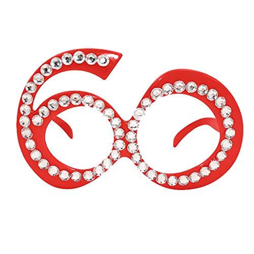 Rosennie Karneval Fasching Party-Brille Lustige verrückte Kostüm Brillen Trendige Bedruckte Sonnenbrille Damen und Herren Sonnenbrillen Kostüm Party Zubehör Über-Groß Brille für Masquerade Party