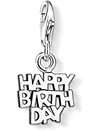 Thomas Sabo Women-Charm Pendant Happy Birthday Charm Club 925 Sterling silver 0883-001-12