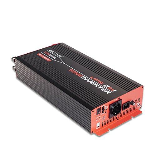 ECTIVE 2500W 24V zu 230V TSI-Serie Reiner Sinus Wechselrichter mit NVS in 6 Varianten: 500W - 3000W