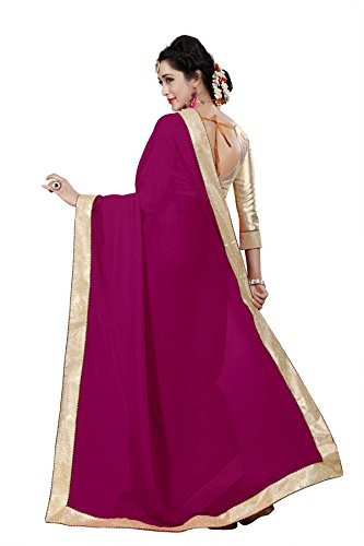 Pramukh Suppliers Women's Georgette Saree With Blouse Piece (RAGINI_DP sarees for women latest design party wear)