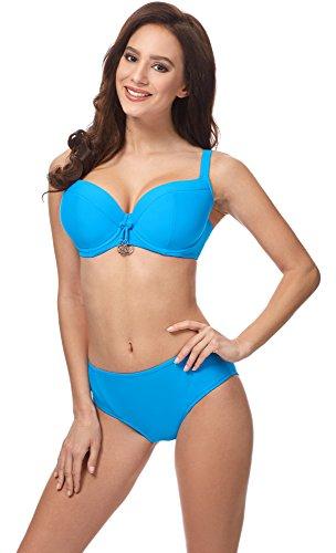 Merry Style Damen Bikini Oberteil CD Blau