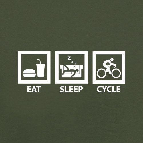 Eat Sleep Cycle - Herren T-Shirt - 13 Farben Olivgrün