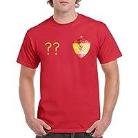 Herren Fußball T-Shirt bedruckbar - WUNSCHNAME & NUMMER - WM / ALLE LÄNDER - 100% Baumwolle - Rundhals Tshirt im Trikot still in div. Farben & Größen