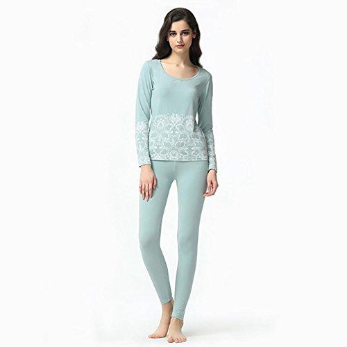 CHUNHUA Mme stretch Slim creux pantalons à manches longues pyjama Survêtement (couleur en option) , purple , xl (165/88a) Blue