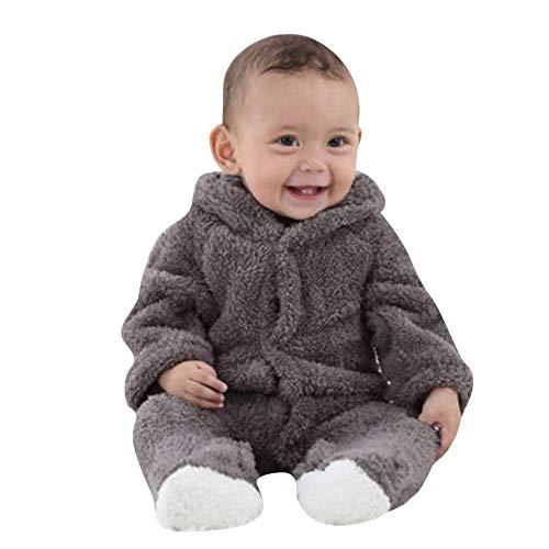 JiaMeng Neugeborenes Baby Jungen Mädchen mit Langen Ärmeln Warm halten Cartoon Hooded Strampler Overall Schneeoverall Kleinkind Baby