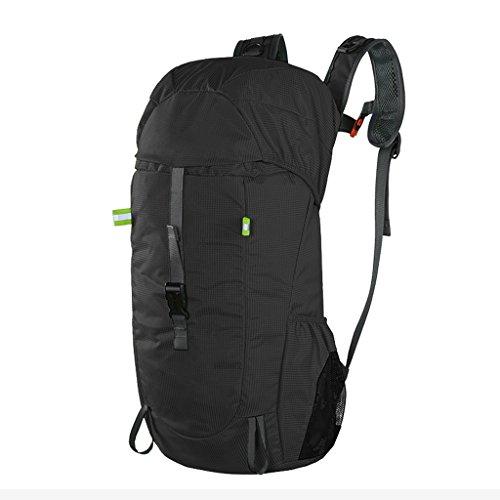 AMOS Gli uomini e le donne del sacchetto di spalla del sacchetto della borsa dello zaino pieghevole esterno per accettare il sacchetto di alpinismo 30L trasmette il sacchetto ( Colore : Blu ) Nero