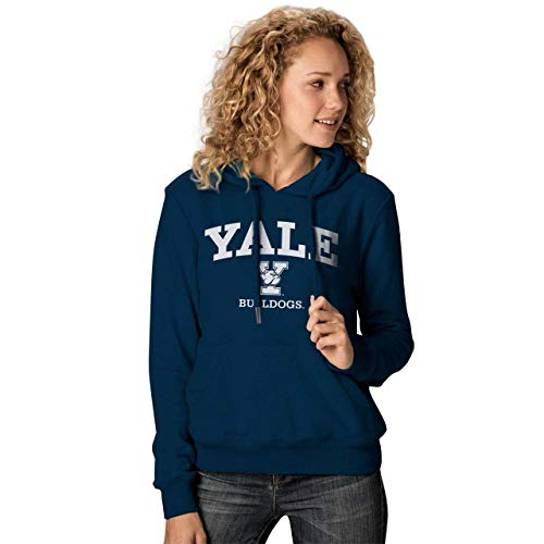 NCAA Damen Premium Campus Classic Goodie Hoodie - mehrere Teams, Größen, Damen, Yale Bulldogs - Navy, Womens Medium Bulldogs Fleece-sweatshirt