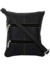 K London Small Sling Bag for Men & Women(Black) (1302_blk)