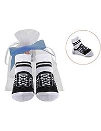 Baby Emporio - 1 Paar-Baby Jungen Socken die wie Schuhe aussehen-rutschfest- 0-9 Monate-Geschenkbeutel