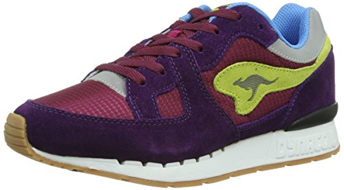 Kangaroos Coil R1 Multi, Baskets mode femme Multicolore - Mehrfarbig (berry/dark violet/lime 668)