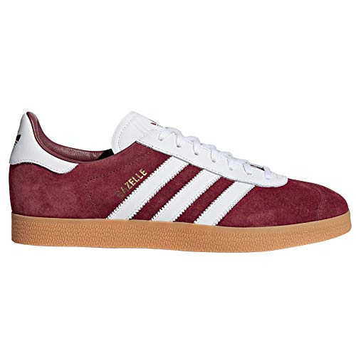 adidas original Gazelle Herren Sneaker. Schuhe Low-Top (41 1/3 EU, Burgundy/White White)