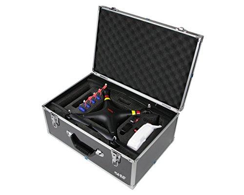 HMF 18501-02 Transportkoffer passend für X8C Syma Drohne, Koffer Alurahmen, 52 x 36 x 22 cm, schwarz