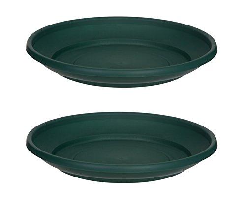 2-x-green-plastic-plant-pot-saucer-43cm-saucer