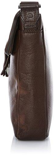 Delsey Exelmans borsa a tracolla pelle 22 cm Marrone