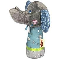 amazemarket bebé sonajero elefante móviles Stick pájaros sonido juguete anillo de Bell Kid para cuna cochecito Doll 0+ Mes recién nacido suave peluche regalo