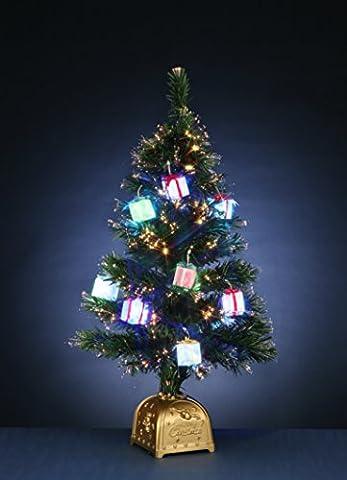 Bezaubernder XL - Weihnachtsbaum / Tannenbaum künstlich mit LED Beleuchtung und dezentem wechselnden Farbspiel in den Spitzen und den Päckchen - zur Auswahl stehen 2 verschiedene Größen - mit Schalter und Trafo inklusive - NEU für Sie entdeckt im KAMACA-SHOP ( Höhe 120 cm )