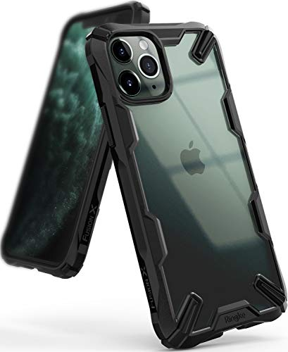 Ringke Fusion-X Diseñado para Funda Apple iPhone 11 Pro, Carcasa iPhone XI Pro 5.8' Transparente al Dorso Protección Resistente Impactos TPU + PC Funda para iPhone 11 Pro 2019 - Black