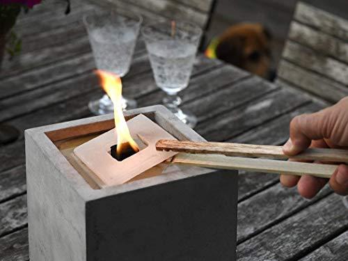 Nachfüllwachs für Betonfeuer der Beske-Manufaktur (30 Wachsplatten) | Praktische Wachsplatten zum Wiederbefüllen von Betonfeuern | für Betonfeuer der Maße: 13x13x13, rund breiter Rand, Ø14cm Runde 13