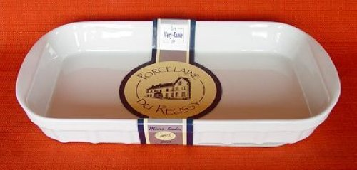 PORCELAINE DE REUSSY 223128GL Plat Rectangle Blanc 28 x 17 x 4 cm
