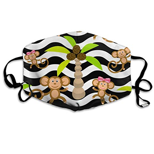 Daawqee Staubschutzmasken, Unisex Monkey Kid Seamless Pattern Anti Pollution Mouth-Muffle Masks Mouth Face Mask -