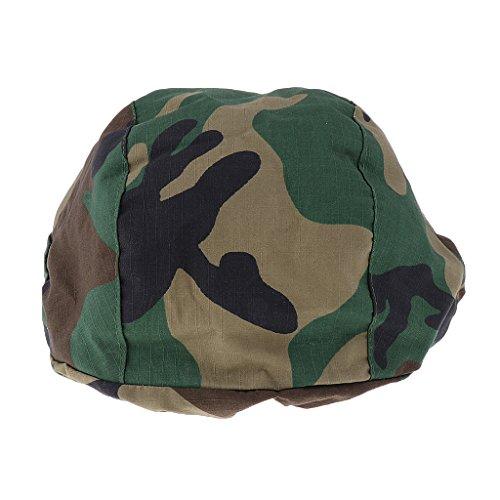 Taktisch Militärisch Military Helm Camouflage Kopftuch Tuch Armee Army Militär Soldaten Kostüm - Woodland (Militär Kostüme Frauen)