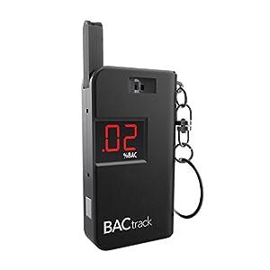 BACtrack Schlüsselanhänger mit Alkoholmessgerät, tragbarer Schlüsselanhänger mit Atemalkoholtester, Schwarz