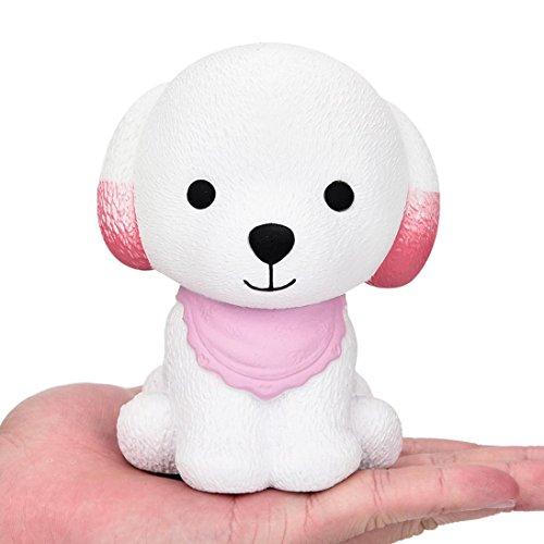 Cute Puppy Duftcreme Langsam steigende Squeeze Dekompression Spielzeug Jumbo Squishy Duftcreme Langsam Steigende Squeeze Nette Spielt Langsame Rebound PU-Spielwaren Kinder Spielzeug Geschenk (Pink) (Cute Panda-outfit)