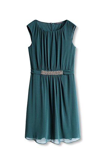 ESPRIT Collection Damen Kleid Grün (bottle Green 385)