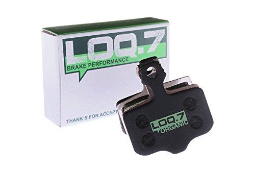Avid Elixir 9, 7, 5, 3, 1, R, CR, XX, X0, XX WC, Via GT, DB1, DB3, DB5, Sram Level, Level T, Level TL, Trickstuff the Cleg Bremsbeläge der Marke LOQ.7 - organisch - High Performance Scheibenbremsbeläge für den Einsatz an hydraulischen Fahrrad MTB Mountainbike Bremsanlagen - absolut plastikfreie Verpackung (Gt Mountainbike)