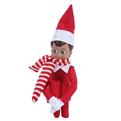 ihnachten Plüsch Puppen mit Schal auf Santa Claus Schreibtisch Junge & Mädchen (Mädchen, Elf Auf Dem Regal Kleidung)