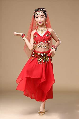 Halloween Kostüm Salsa - BT-GIRL Mädchen Tanzkostüme Kinder Bauchtanz indianisch Halloween Karneval Kostüme,A,XS