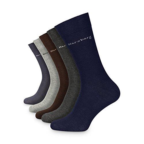 Herzberg Herren Damen Business Socken Baumwolle ohne Naht Jeans 10 Paar 39-42