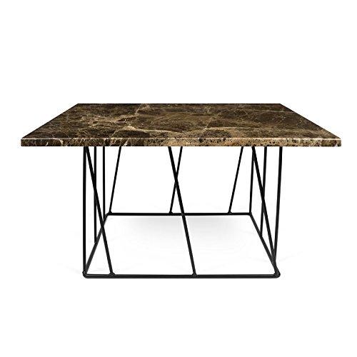 Paris Prix - Temahome - Table Basse Helix 75cm Marbre Marron & Métal Noir