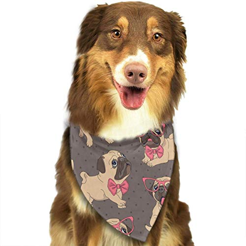 A Glasses and in A Bow-tie Pattern Fashion Dog Bandanas Bibs Scarf Pet Dog Cat Dog Scarf ()