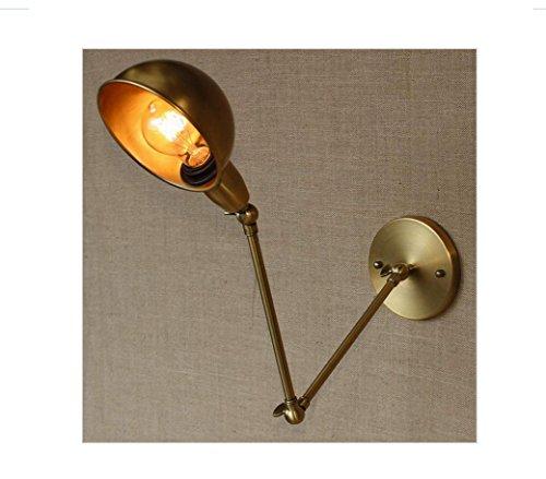 AllureFeng Swing Arm Leuchter Lampen Messing Wandlampe für Arbeitszimmer Badezimmer-Eitelkeit Lichter/Portalbeleuchtung -
